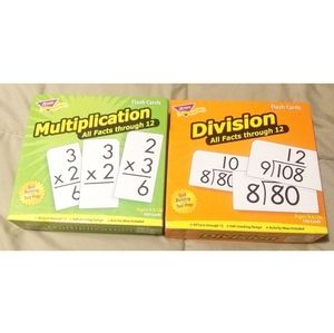 Division & Multiplication All Facts Flash Cards
